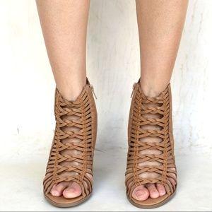 ba2e1a29b1 Shoes | New Tan Braided Strappy Block High Heel Sandals | Poshmark
